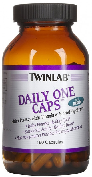 Витамины Twinlab Daily One Caps (iron+) 180 капс.