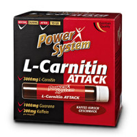 Карнитин  Power System L-Carnitin Attack  20х25 мл.