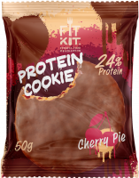 FIT KIT Protein Chocolate Cookie, вишневый пирог, 50 г