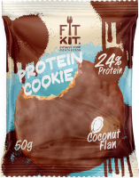 FIT KIT Protein Chocolate Cookie, кокосовый флан, 50 г