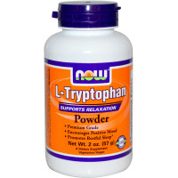 Аминокислоты NOW L-Tryptophan Powder 57 г.