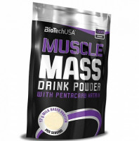 Гейнер BioTechUSA Muscle Mass, шоколад, 1000 г