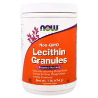 Аминокислоты NOW Lecithin Granules Non-GMO 454 г