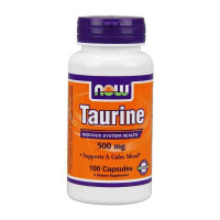 Энергетик NOW Taurine 500 mg 100 капс.